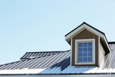metal roof with dormers